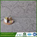 Pedra elevada de quartzo da veia do preto da dureza do fabricante para a bancada
