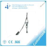 Braçadeira de cabo isolada da tensão elevada do fio da linha eléctrica encaixe elétrico para o cabo ótico