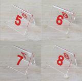 아크릴 천막 작풍 테이블 수 카드 홀더, 2 X 1.7inch