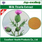 100%の自然なミルクアザミのエキスの粉