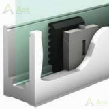 Frameless U 채널 방책을 윤이 나는 알루미늄 U 기본적인 채널을%s 가진 안전에 의하여 단단하게 하는 유리제 난간