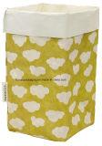 Bolsa de papel Kraft lavable Cosméticos color Cesta de almacenamiento de comestibles estacionaria