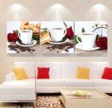 3 لون جدار فن [أيل بينتينغ] قهوة صورة زيتيّة منزل زخرفة يطبع نوع خيش صور لأنّ يعيش غرفة يشكّل فن [مك-259]