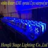 LED flaches DMX&Battery& drahtloses wasserdichtes Kibetic, das 12 *15W RGBWA 5in1 LED NENNWERT Licht beleuchtet