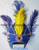 インドの羽の頭飾り(党、の衣裳祝うこと)