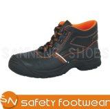 Горячие ботинки безопасности кожи черноты надувательства (sn1667)