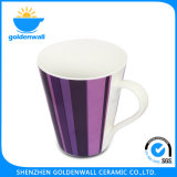 300ml coloridos simples multan la taza de té de China de hueso