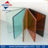 vidro de flutuador laminado PVB francês do verde de 8.38mm com Ce&ISO9001