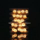 アニスの星36FT Dimmableの星の星明かりの銀製ワイヤー妖精ストリングはクリスマスのための暖かく白く装飾的なロープライトをつける