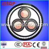 LV et Mv Câble électrique avec trois Cores, câble 3core