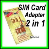 2 dans 1 support duel d'adapteur de carte du jumeau SIM de GSM pour le mobile (ISP-DSA)