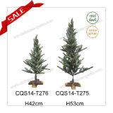 Decorazione di cerimonia nuziale del PE dell'albero di Natale di tatto reale di H42-53cm mini