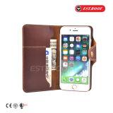 Boîtier en cuir personnalisé en cuir avec portefeuille pour téléphones portables