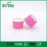 Cuvette de papier remplaçable de yaourt surgelé de la crême 4oz glacée d'impression faite sur commande