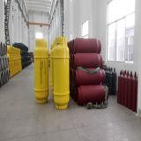 400L, 840L 및 1000L 액화된 염소를 위한 중간 압력 용접 다시 채울 수 있는 가스통