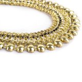 Rayli Style Gold Plating Glass Stone Chain Necklace (XJW1597)