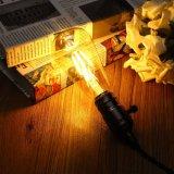 Lâmpada retro dourada AC110/220V da luz de bulbo do diodo emissor de luz da ESPIGA do filamento do vintage de Dimmable Edison da tampa de E27 St64 6W