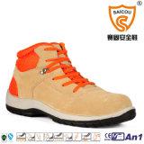 ベージュスエード柔らかい革快適な作業靴の製造者
