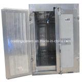 Revestimento manual do pó que cura o forno com transporte aéreo