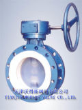 PTFE Coated Double Flange Butterfly Valve con CE (D41X-10/16)