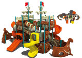 Children en plastique Playground Pirate Ship Outdoor Playground pour Amusement Park