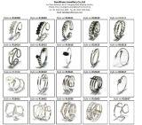 2017 Comercio al por mayor redonda de la manera Anillo rodio plateó los anillos R10641