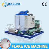 Capacidade grande 10 do gelo toneladas de máquina do floco para o supermercado