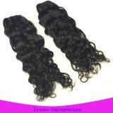 Выдвижение Weave человеческих волос волны самого лучшего качества естественное черное итальянское