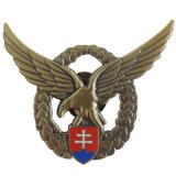 Distintivo d'argento antico di Pin di marchio delle pecore del metallo con il catenaccio della farfalla (xd-09048)