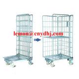 Carro de aço de dobramento da gaiola do rolamento do armazenamento do engranzamento de fio