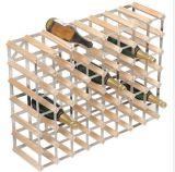 La crémaillère de vin en métal retient le fil argenté de couleur de bouteilles de vin de l'échelle 27