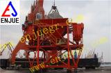 Tolva portuaria industrial de la prueba del polvo de la prueba móvil de la tolva de Eco para el cargo a granel