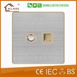 O interruptor o mais novo da parede do controle do ventilador do grupo do projeto um