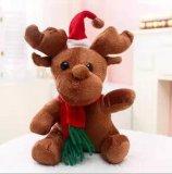 De Kerstman vulde/het Zachte Stuk speelgoed van /Plush voor Kerstmis