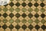 Tissu vert de meubles de Chenille de Gemotric (FTH31151)