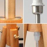 Bevindende Staand lamp van de Schaduw van de Stof van het hotel de Decoratieve met Houten Benen
