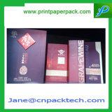 Vakje van uitstekende kwaliteit van het Document van het Vakje van de Gift van het Vakje van de Fles van de Wijn het Verpakkende