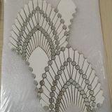 Gemakkelijk installeer het Binnenlandse Marmeren Mozaïek van Composit van het Glas van de Tegels van de Muur