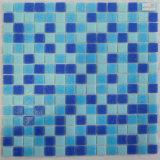 Kleines quadratisches tiefes blaues Glasmosaik der Stärken-4mm für Pool-Entwurf