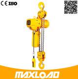 3t que levanta el alzamiento de cadena eléctrico con el gancho de leva
