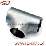 T saldato estremità sanitaria Polished dell'acciaio inossidabile breve