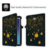 Alta calidad para la cubierta amarilla de la caja del cuero del bulbo de la tabulación E de Samsung