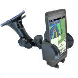 360 support de téléphone de véhicule de stand de support de pare-brise d'aspiration de la rotation 0308