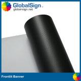 Drapeau noir blanc lustré de câble de PVC Blockout