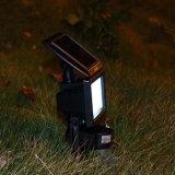 太陽動力を与えられた洪水ライト屋外の地上の軽い動きセンサーの庭の景色の照明製品