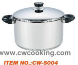 2PCS/Ssのふたが付いている単一の鍋の/Stainlessの鋼鉄カセロール