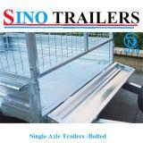 Remorques de cage boulonnées par essieu simple d'acier inoxydable