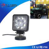 indicatore luminoso della lampada del lavoro di 27W Squre LED per il trattore SUV