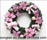 Венок рождества горячего украшения праздника сбывания цветастого искусственний