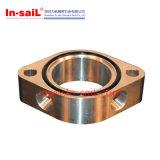 CNCの回転旋盤にかかるチタニウムの真鍮の部品